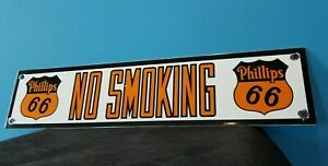 VINTAGE PHILLIPS 66 GASOLINE NO SMOKING PORCELAIN OIL SERVICE STATION SIGN