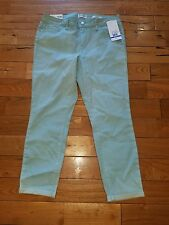 NWT Womens Canal Blue JESSICA SIMPSON Rolled Crop Skinny Jeans Size 10/30