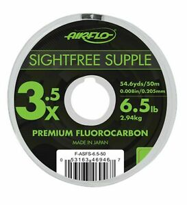 100m Airflo Sightfree Supple Premium Fluorocarbon Fly Fishing Tippet Material