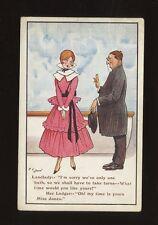 Artist F.G.LEWIN Comic Lodger and Pretty Landlady Faults c1900/10s? PPC