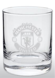 MANCHESTER UNITED FC GLASS TUMBLER