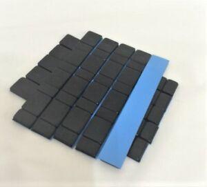 Black Adhesive Stick On Wheel Weight 10x60g,5g/10g Wheel Balance/ Car Van M/Bike