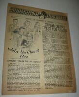 Vintage 1947 Burlington Booster Co. Newsletter Zephyr Chicago Quincy FREE Ship
