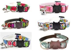 Cat Collar with Bell - Animal Print   Safe Quick Release / Breakaway Buckle