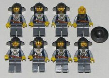 LEGO LOT OF 8 NEW KINGDOMS KNIGHT CASTLE MINIFIGURES WITH CROWN LOGO PARTS