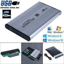 "2.5"" USB 2.0 SATA HDD Hard Drive Disk External Enclosure Case for Laptop Desktop"