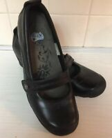 Merrell Plaza Bandeau Black Leather Mary Jane Shoes Women's Size 7.5 / 38