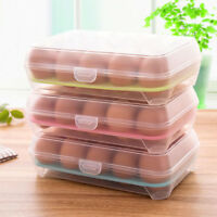 15 Grids Portable Egg Storage Box Holder Container Carrier Camping Shatter-proof