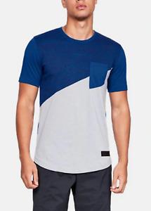 Under Armour Men's Royal Blue/Gray SC30 Cross Court Short Sleeve T-Shirt