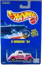 Hot Wheels Collector No. 196 3-Window '34 Pink Fenders MOC 1992