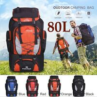 80L Waterproof Sport Backpack Rucksack Outdoor Travel Daypack Camping Hiking Bag