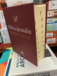 BIBLIA DE JERUSALEN.CATOLICA EN LETRA GRANDE  REVISADA Y AUMENTADA CON INDICE
