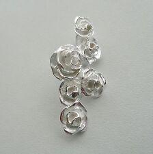 Rosen Anhänger Rose Herzen Liebe Tracht Dirndl Vintage Retro Hochzeit Silber 925
