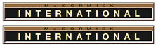 2x IHC Aufkleber gold international 353 Logo Emblem Sticker Label