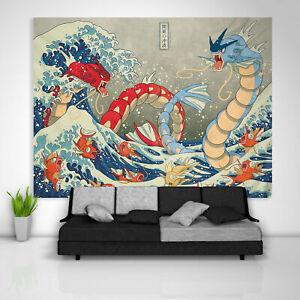 Japanische Gyarados Tapisserie Kunst Wandbehang Tischdecke Poster Wohnkultur