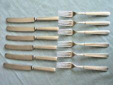 Landers Frary & Clark, Silverplate Flatware, 24 Dwt, Lot Of 6 Knives & 6 Forks
