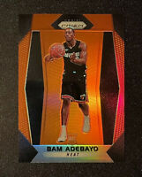 2017-18 Panini Prizm Orange Prizm Bam Adebayo Rookie RC /49 💎 Mint Sharp