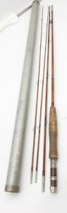 """Vintage Amherst Fly Rod Co. Bamboo Fishing Rod """" The Scarborough """" 8.5 ft ~Rare"""