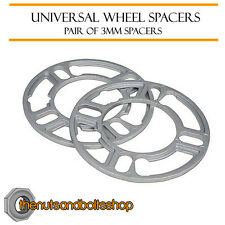 Wheel Spacers (3mm) Pair of Spacer Shims 4x100 for Chevrolet Aveo Saloon 11-16