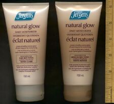 JERGENS Natural Glow Brand New (1) Medium Tube + (1) Fair Tube Tanning Lotion