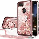 For Google Pixel 3 3a 3aXL 3XL Case Glitter Liquid Protective Phone Cover + Ring