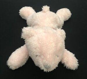 "Carters Pink Polar Bear Plush Baby Toy Laying Down #66744 9"""