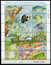 Dominica 1990 Fische Fishes Poissons Pesci Meerestiere Qualle 1292-1309 ** MNH