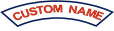 """1 Custom Embroidered Rocker's Banner Patch for Biker, Iron On or Sew On 12"""" x 2"""""""