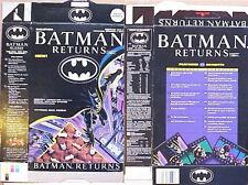 Rare 1992 Batman Returns Sales Sample Cereal Box ab216