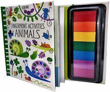 Usborne Fingerprint Activities: Animals Children's Thumb Doodles Craft Activity