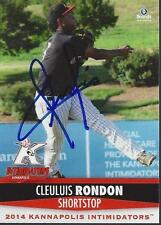 Cleuluis Rondon 2014 Kannapolis Intimidators Signed Card