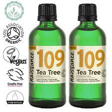 Naissance Organic Australian Tea Tree Essential Oil 200ml (2 x 100ml)