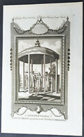 1782 Millar Antique Print of a Japanese Wedding Ceremony During the Edo Period