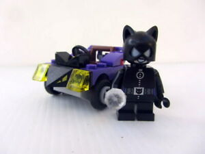 GENUINE LEGO MIGHTY MICROS CATWOMAN AND VEHICLE  MINIFIG - Good Cond