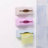 AU_ IC- Plastic Kitchen Wall Mount Trash Garbage Bag Storage Box Holder Organize