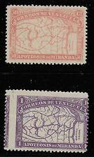 Venezuela Scott #140-41, Singles 1896 FVF/AVG MH