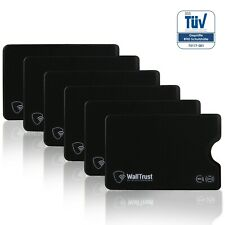 WallTrust® TÜV geprüft RFID NFC Schutzhülle Hartplastik 6er Set Kreditkarten