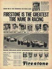 1965 Firestone Indy 500 Ad/Jimmy Clark/