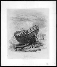 "1819 - Original Antique Print ""THE LITTLE BELT"" BATTERSEA BOAT River Thames (35)"