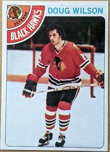 DOUG WILSON 1978-79 Topps #168 rookie card CHICAGO BLACKHAWKS HALL OF FAME