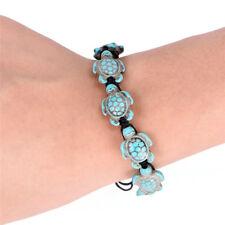 Bohemia Bangle Turquoise Turtle Adjustable Braided Rope Bracelet Jewelry HCUK