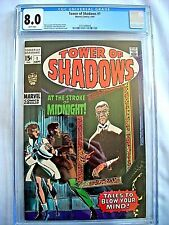 Marvel TOWER OF SHADOWS #1 CGC 8.0 VF White Pages 1969 Jim Steranko Stan Lee