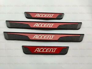 For Hyundai Accent Car Accessories Door Sill Cover Scuff Plate Protector Bumper