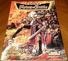 OOP Citadel / Warhammer 40k / Witch Hunters Sisters Of Battle Codex 1997 2nd Ed.