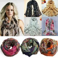Hot Fashion Women Soft Voile Cotton Scarf Wrap Silk Chiffon Shawl Stole Scarves