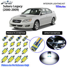 10 Bulbs LED Interior Dome Light Kit Xenon White For 2000-2009 Subaru Legacy