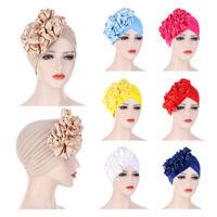 India Flower Turban Hijab Hat Women Headscarf Wrap Cover Cancer Chemo Cap Beanie