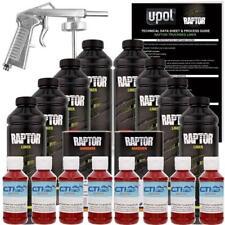 U-POL Raptor Blood Red Urethane Spray-On Truck Bed Liner W/Free Spray Gun 8 L