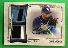 2015 Topps Museum Collection Chris Archer Patch Auto #6/299 (BB 6)