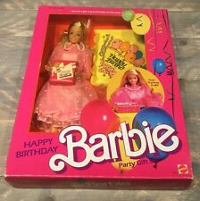 1983 Happy Birthday Party Girl Gift Set Barbie doll NRFB HTF Rare Superstar face